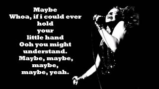 Janis Joplin - Maybe lyrics