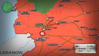 16 мая 2018. Военная обстановка в Сирии. Боевики покидают котел к северу от города Хомс.