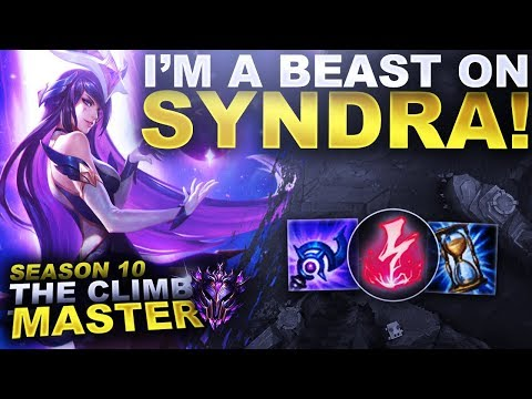 I'M A BEAST ON SYNDRA! - Season 10 Climb to Master | League of Legends