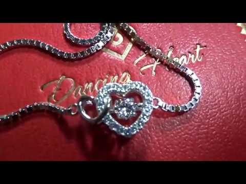 """Dancing Heart """"Herz zu Herz"""" Armband Damen Silber 925 - traumhafter Schmuck"""