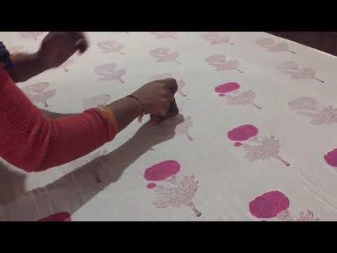 Block Printed Unstitched Salwar Suit