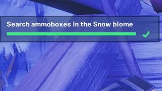 ✅ Search Ammoboxes in the Snow biome - Fortnite Week 3 Season 8 Challenges