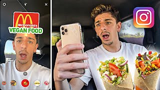 Letting INSTAGRAM FILTERS Decide What I Eat for 24 HOURS!!