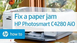 Fixing a Paper Jam - HP Photosmart C3180 All-in-One Printer