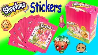 4 Shopkins Season 1 2 STICKERS Blind Bag PACKS Collection Box Unboxing Video Cookieswirlc