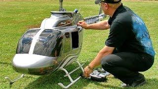 GIGANTIC XXXL RC JETRANGER BELL-206 SEMI SCALE MODEL HELICOPTER FLIGHT DEMONSTRATION