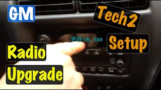 2003 04 05 Chevy Cavalier GM factory radio install & Clear CAL ERR using the Tech2 Scan Tool