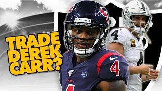 Las Vegas Raiders to TRADE Derek Carr? | Possible Three-Team Trade for Deshaun Watson