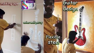 Guitar Wall Care Putty Texture Design | How To Wall Art