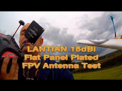 Lantian 5.8g 15dB Patch Antenna test | Mini Talon - BangGood.com