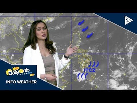 PTV INFO WEATHER: ITCZ, umiiral sa Mindanao at Visayas