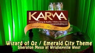 Wizard of Oz Theme Sweet 16 Cake Mapping Karma Event Lighting