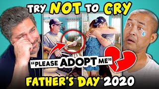 Dads React To Try Not To Cry Challenge (Fathers Day 2020)
