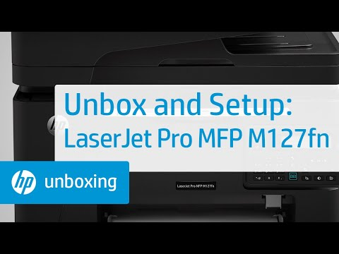 Unboxing and Setup of the LaserJet MFP M127fn
