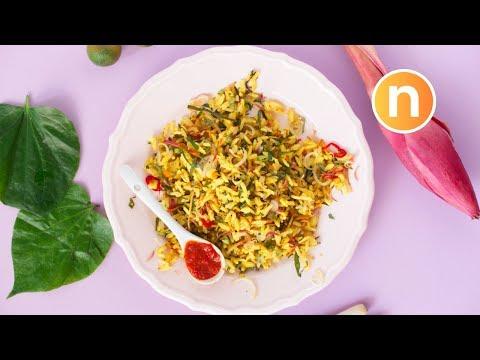 Nasi Ulam Nyonya   Peranakan Rice Salad [Nyonya Cooking]