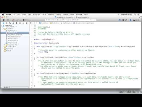 Objective-C Programming Tutorial | Exploring The Navigation Area