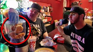 Disgusting Chick Fil A Chicken Sandwich Milkshake (Puke Food)