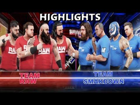WWE 2K19 TEAM RAW VS TEAM SMACKDOWN | SURVIVOR SERIES 2018 - PREDICTION HIGHLIGHTS