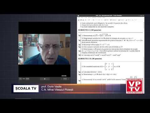 ȘCOALA TV – Test matematica pentru pregatirea examenului de bacalaureat