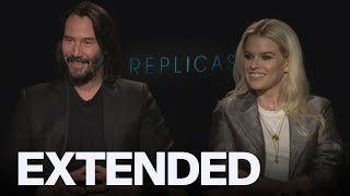 Keanu Reeves And Alice Eve Talk Art Imitating Life In 'Replicas' | EXTENDED