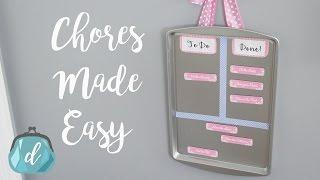 Easy Chore Chart | Dollar Tree