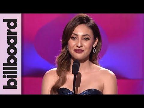 Francia Raisa Presents Selena Gomez With Woman of the Year Award at Billboard Women in Music 2017