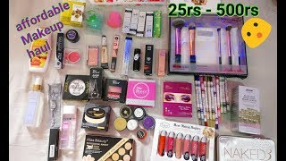 Very Affordable  Makeup Haul    25 Rs - 550 Rs    Shy Styles