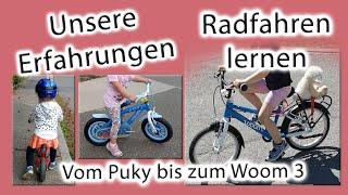 Radfahren lernen - Stützräder ja/nein? | Unsere Erfahrungen | Puky | Woom 3