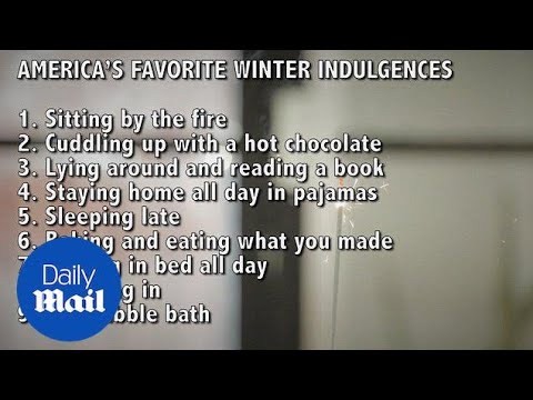 Poll reveals how Americans indulge over the winter period - Daily Mail