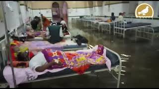 Patients, staff wade through knee-deep rainwater in Osmania hospital  IMAGES, GIF, ANIMATED GIF, WALLPAPER, STICKER FOR WHATSAPP & FACEBOOK