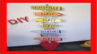 DIY Dr. Seuss Birthday Sign