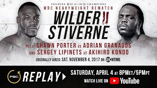 PBC Replay: Deontay Wilder vs Bermane Stiverne 2 | Full Televised Fight Card