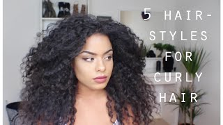 Enjoyable Top Videos Quick And Easy Hairstyles For Curly Hair Hairstyle Inspiration Daily Dogsangcom