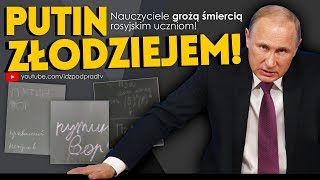 Putin złodziejem! Nauczyciele grożą śmiercią rosyjskim uczniom! IDŹ POD PRĄD NA ŻYWO 16.11.2018