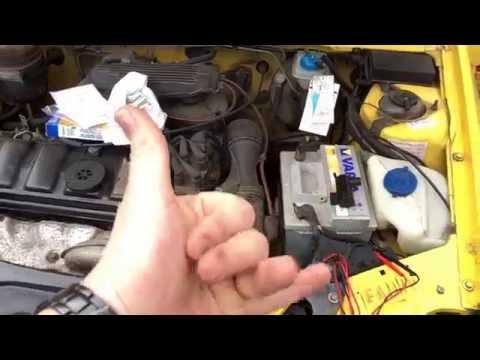 PKW Strom Leitung auf Durchgang prüfen mit Multimeter Peugeot 205 Scheibenwaschanlage Anleitung