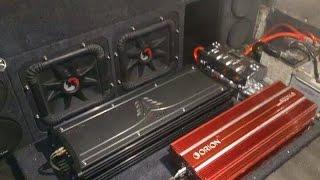 2 12s KICKER SoloX  & 2 Amp ZX2500.1 Hi Voltage Power Loud Crazy Bass SPL Orion hcca