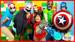 Ryan vs Marvel Avengers Infinity War Superhero Hide and Seek!