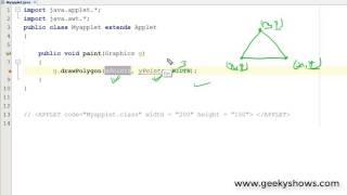 Draw Polygon in Java Applet (Hindi)