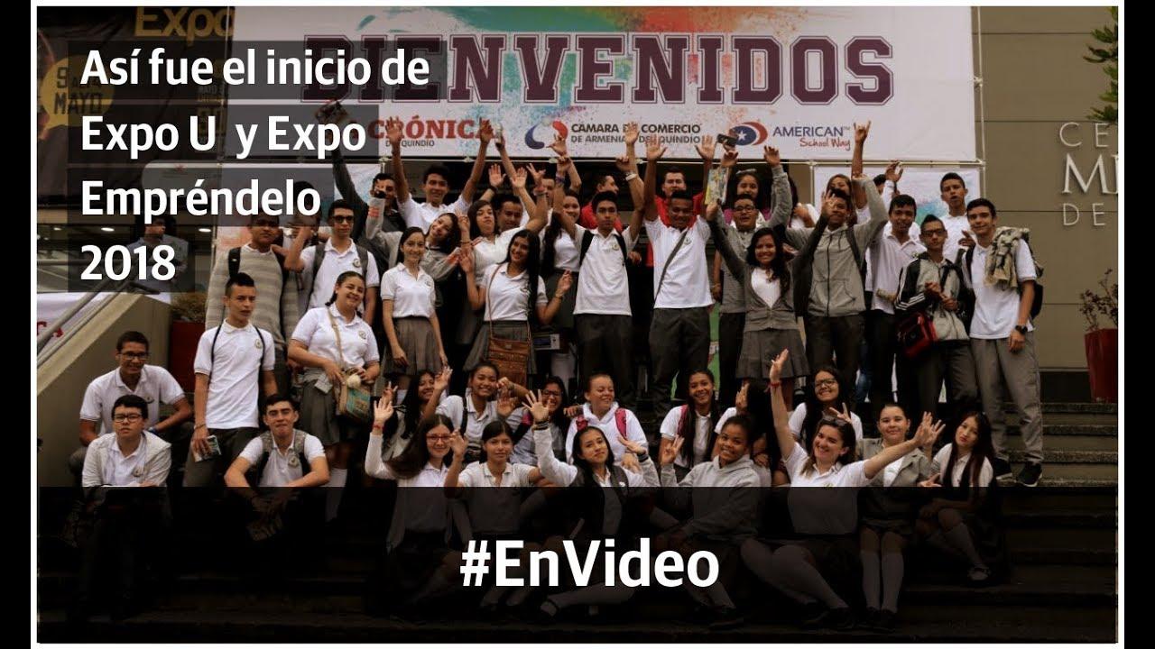Así vivieron los estudiantes el comienzo de ExpoU y Expo Empréndelo 2018