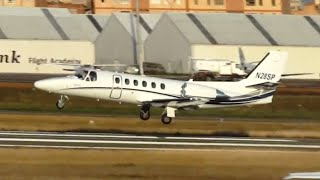 preview picture of video 'Despegue Cessna 550 Citation Bravo (N28SP) - Aeropuerto de Sabadell'
