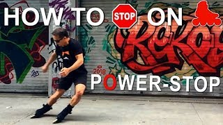 How To Stop On Inline Skates  -Power Stop Tutorial