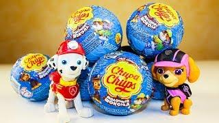 Чупа Чупс Сюрпризы Щенячий патруль Игрушки Видео для детей Unboxing surprise eggs Paw Patrol toys