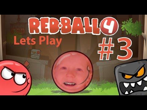 Lets Play Red Ball 4 часть #3. Game Play игры про красного шарика и злых квадратиков видео