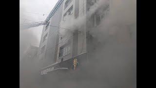 В Перми горит офисное здание, людей эвакуируют