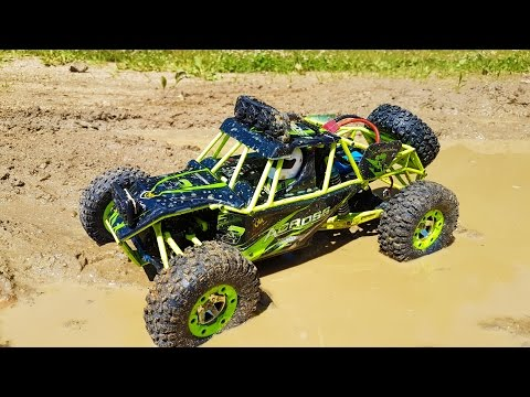 AMAZING  RC 4WD Test Ride! Gearbest WLtoys 1/12 Scale Off Road Vehicle