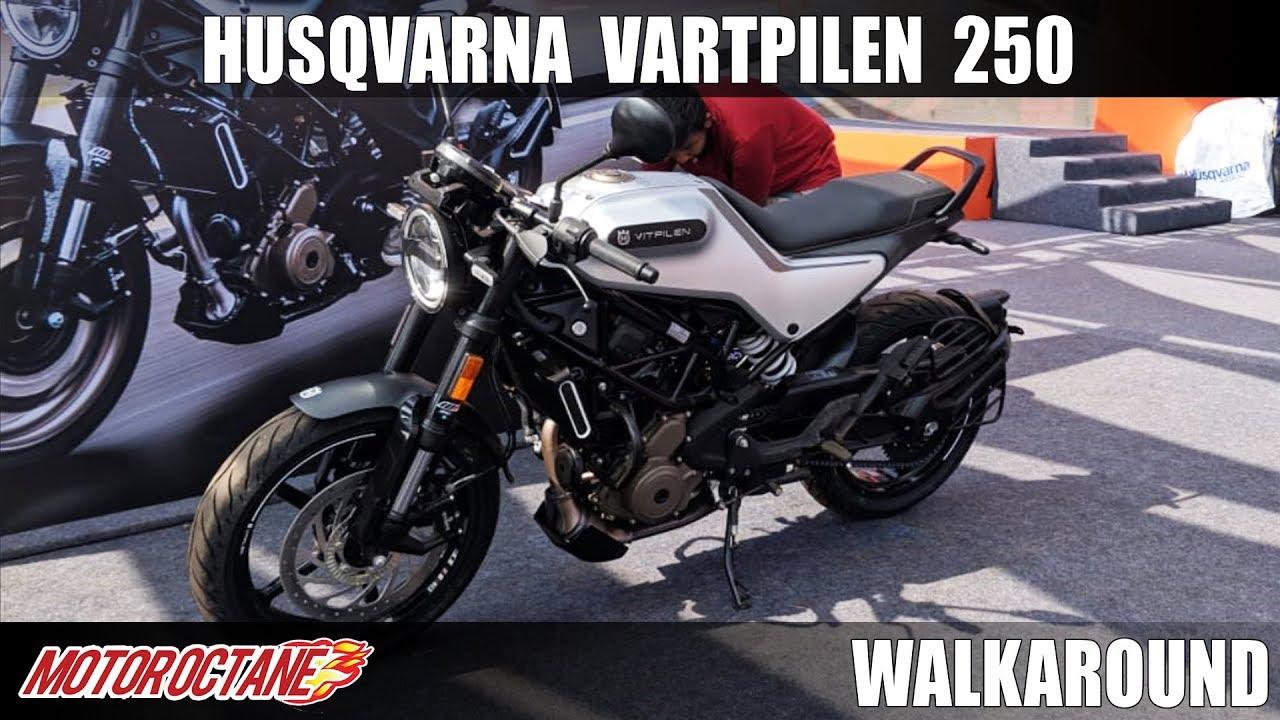 Motoroctane Youtube Video - 2020 Husqvarna Vitpilen 250 | KTM Duke 250 Cafe Racer | Hindi Walkaround | MotorOctane