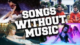 Popular Music Videos Without Music (Music vs. Real Sounds) #1