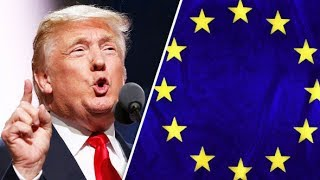 President Donald Trump European Union Headquarters Meeting with EU Leaders 2017 Trump EU Nato Meet