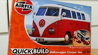VW Camper Van. БЫСТРАЯ СБОРКА БЕЗ КЛЕЯ. AIRFIX J6017 от компании Хоббинет. Сборные модели. - видео