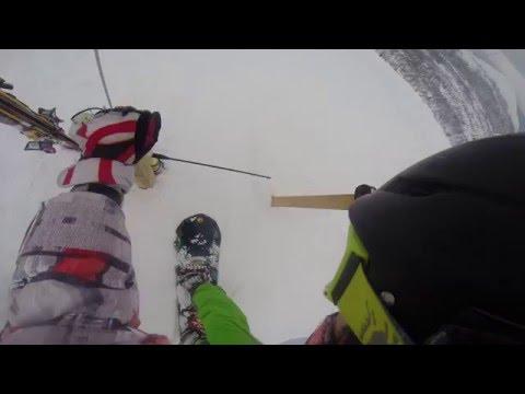 Видео: Видео горнолыжного курорта Лапландия-Лапарь Стан в Мурманская область